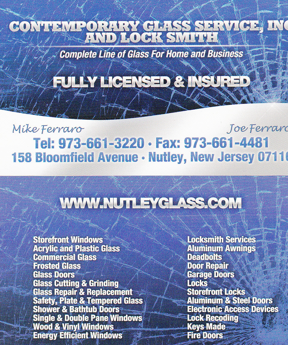 Nutley Glass and Key, 973-661-3220