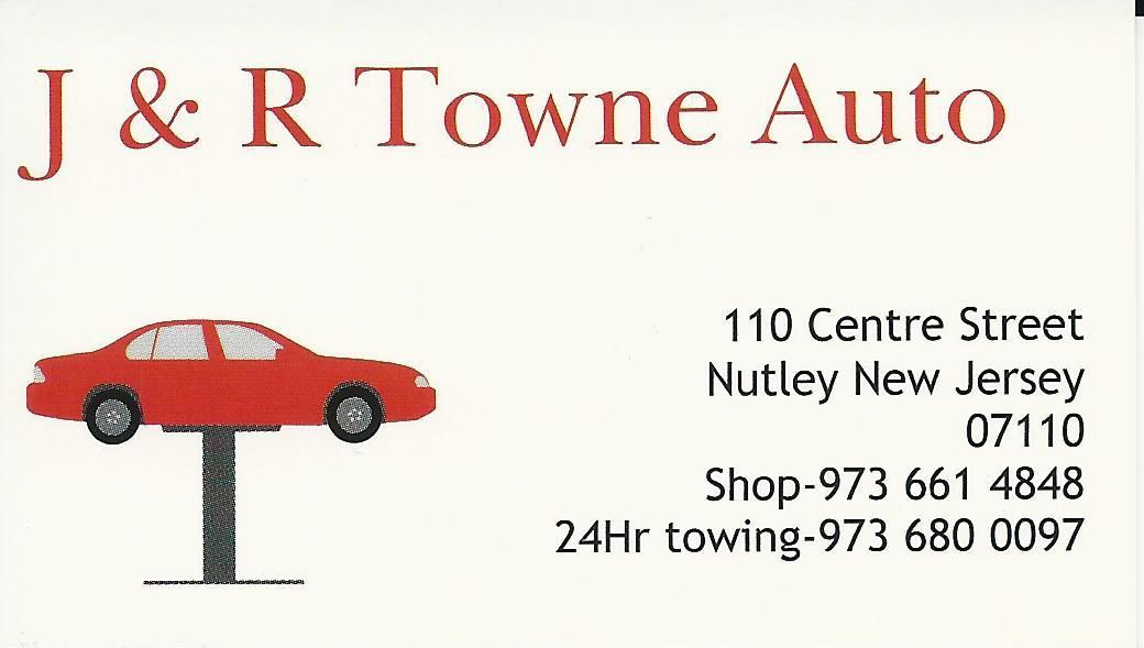 J&R Towne Auto, 973-661-4848; 24-hr towing 973-680-0097